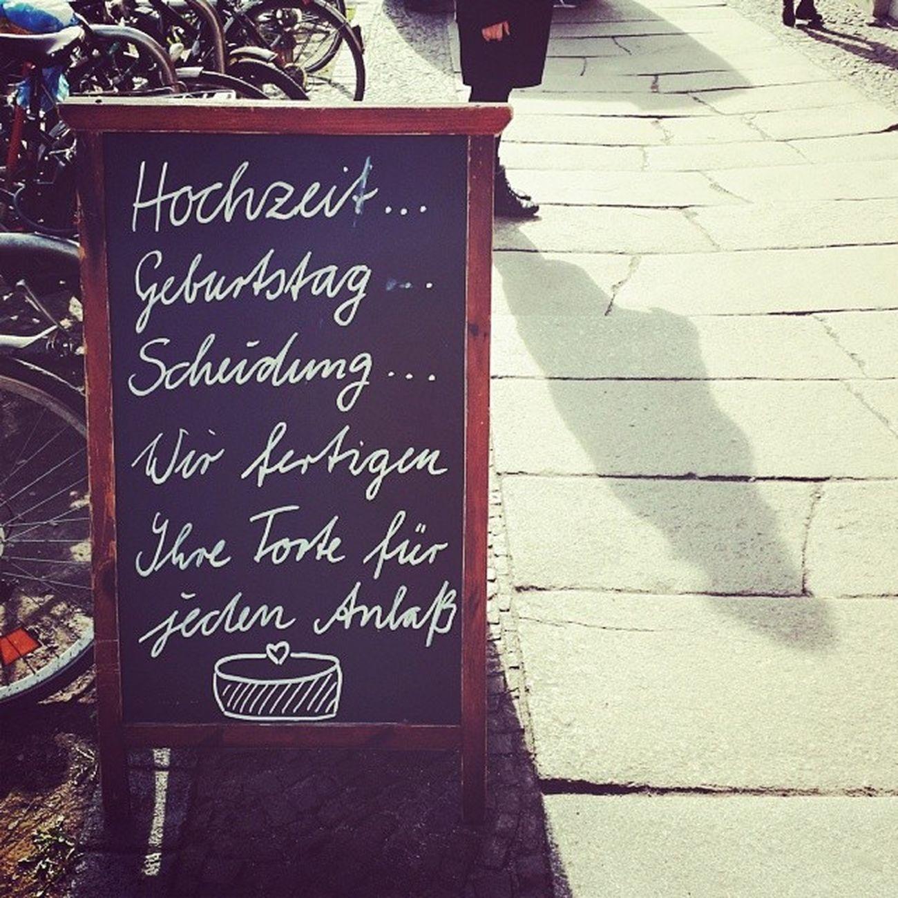 Eine Torte fuer Jedenanlass ... Saturday Karli thisisleipzig