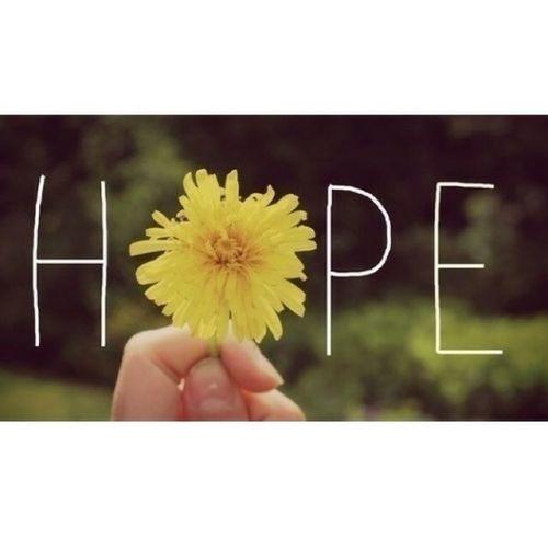 Hoffnung ist manchmal alles was man noch hat'...