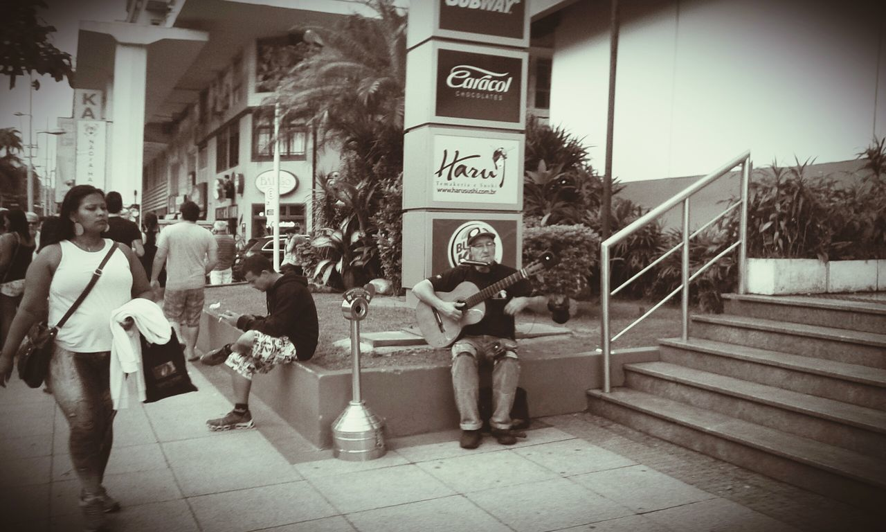 Selenium Tone Street Musician Street Art Peoplephotography Taking Photos - Santossp