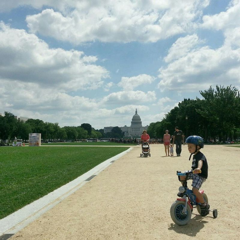 My Happy Place  Nationalmall At The Park Sky And Clouds simply happy