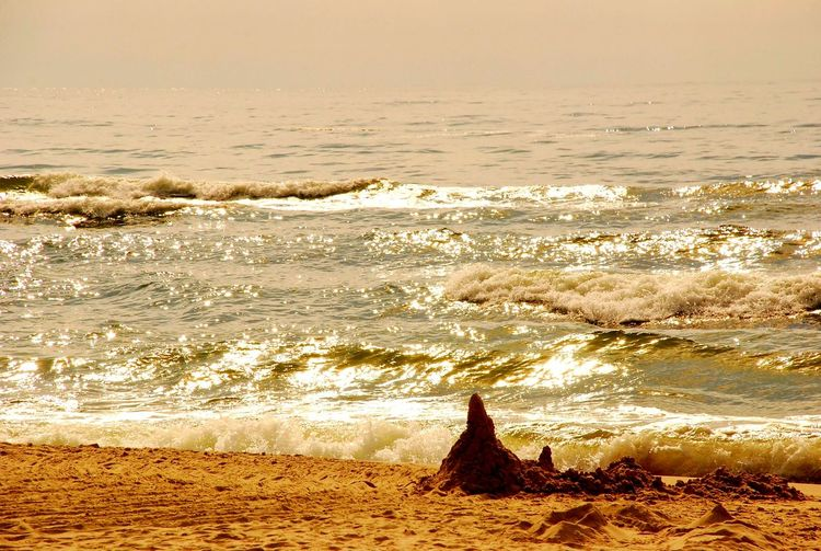 Sea Beach Sunset Water Outdoors Nature Wave No People Beauty In Nature Day Ivory Tower Baltic Sea