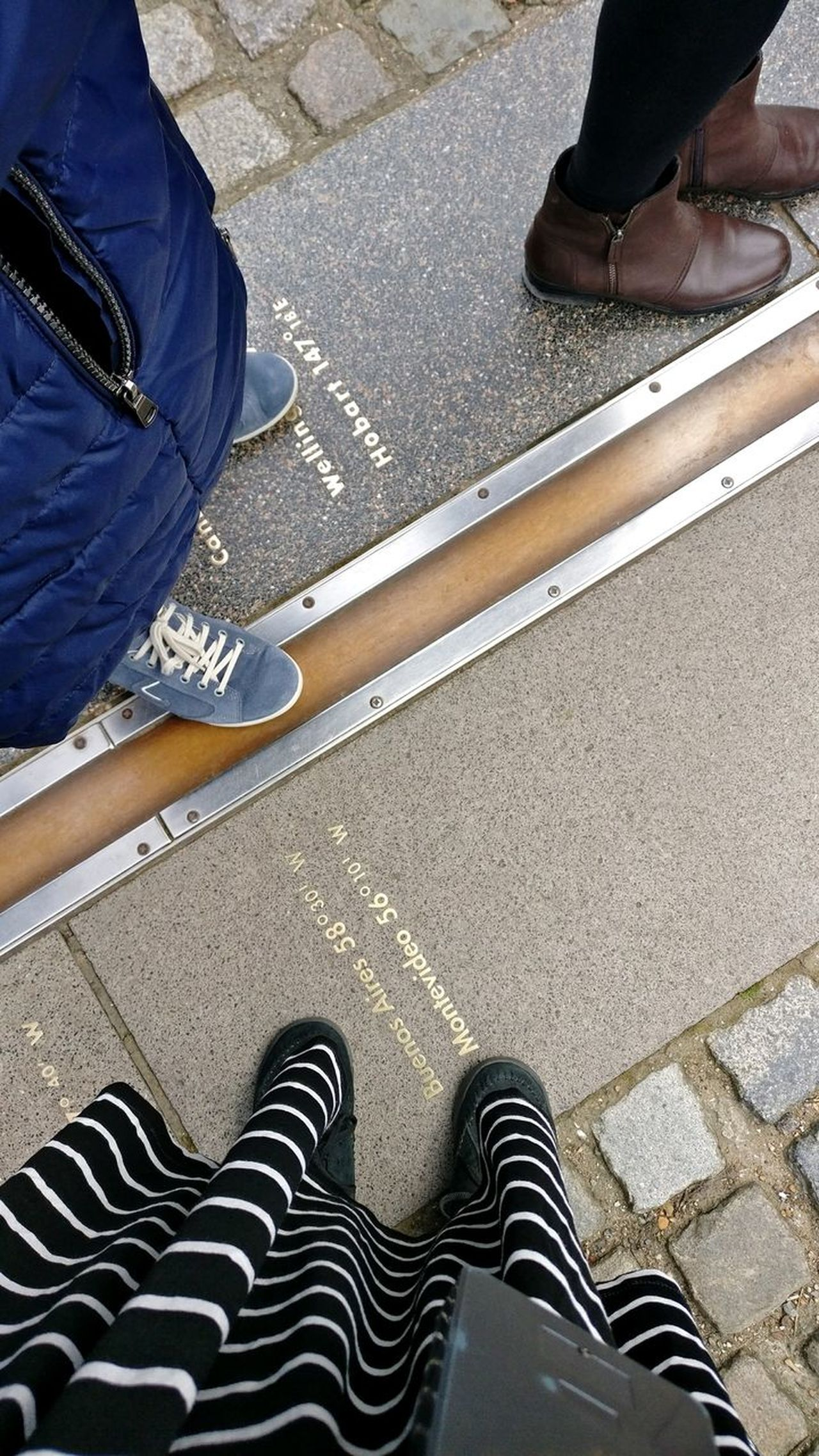 Greenwich Observatory Greenwich Greenwich Park Greenwich,London Prime Meridian Time Low Section Human Leg High Angle View Shoe Human Body Part Human Foot Real People Standing