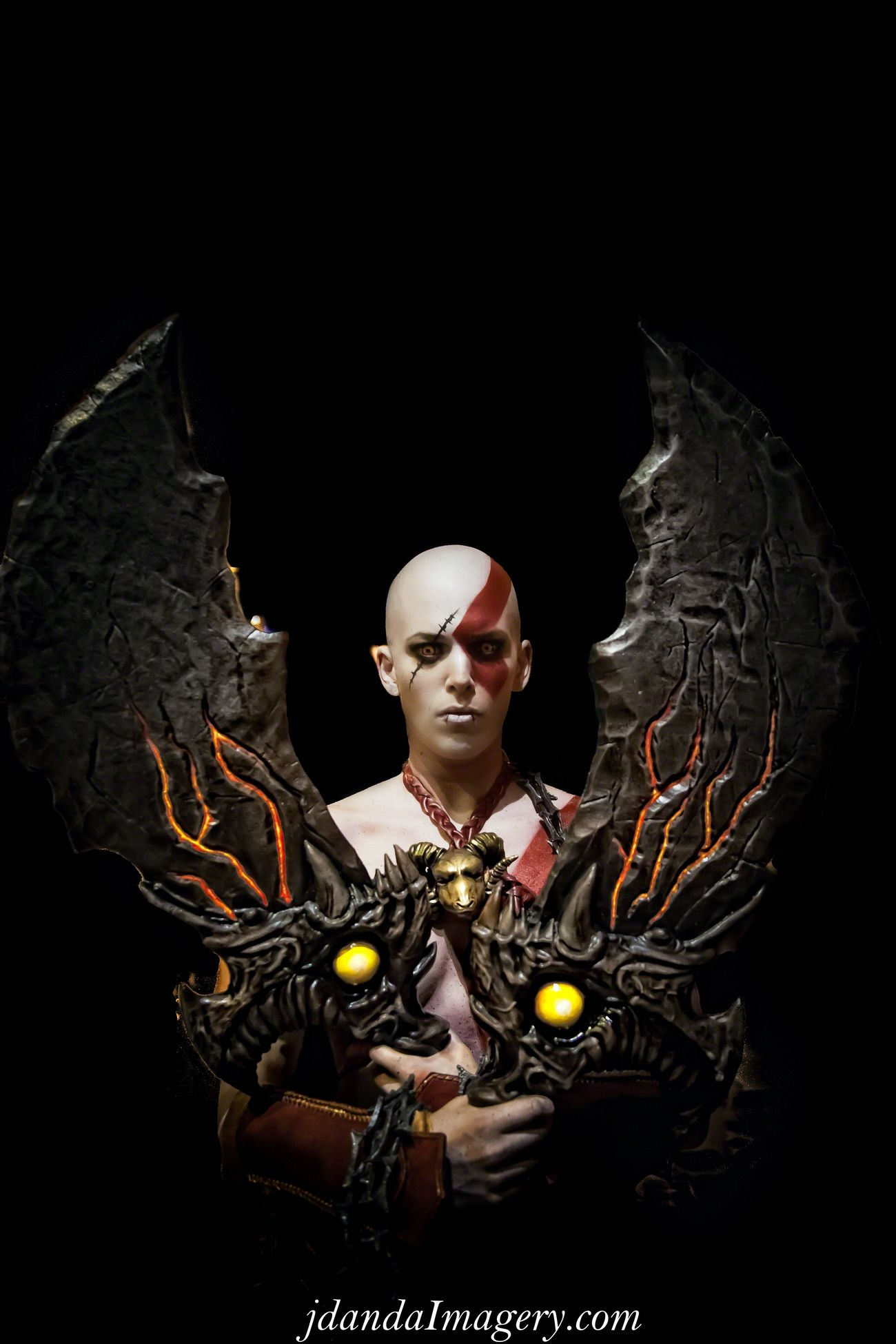 God Of War Jdanda Cosplay DragonCon Woman Bald