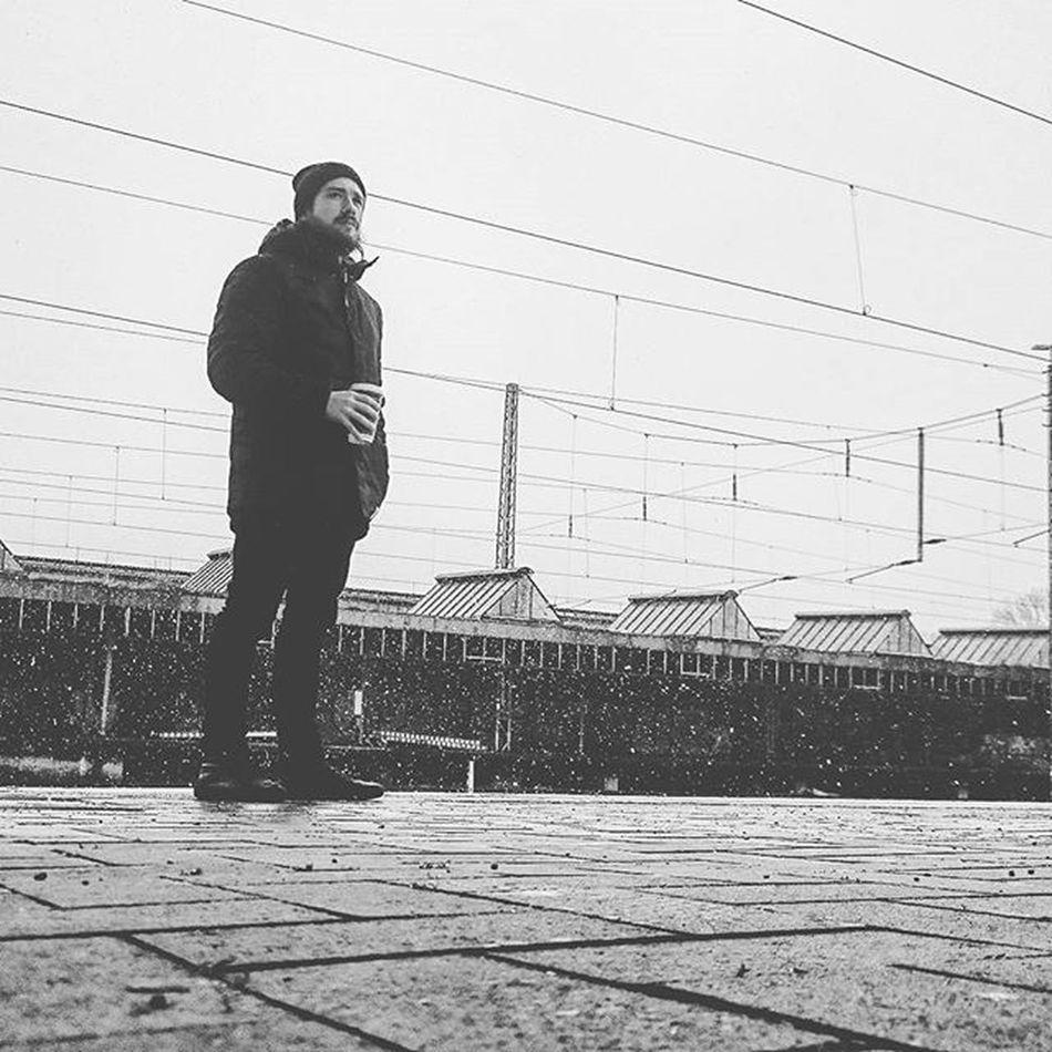 white on black Winter Snow Bahnfahren Unbunt StudyLife