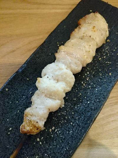 「キワ」初めて食べた。串打ちがイイネ