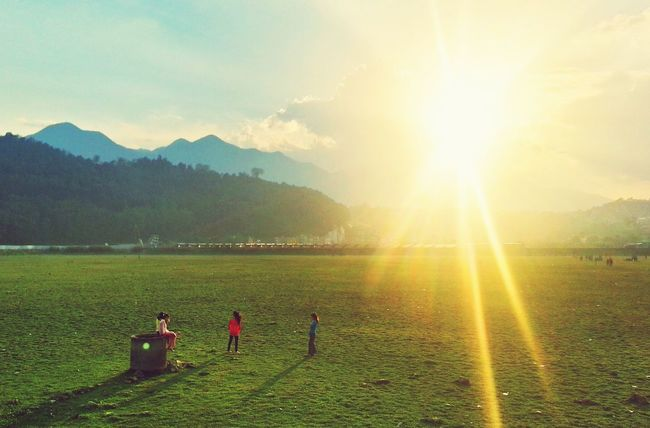 Stolenmoments Mobilephotography Landscape Eyeem Nepal Clouds And Sky Green Peoplephotography People Sunlight HDR