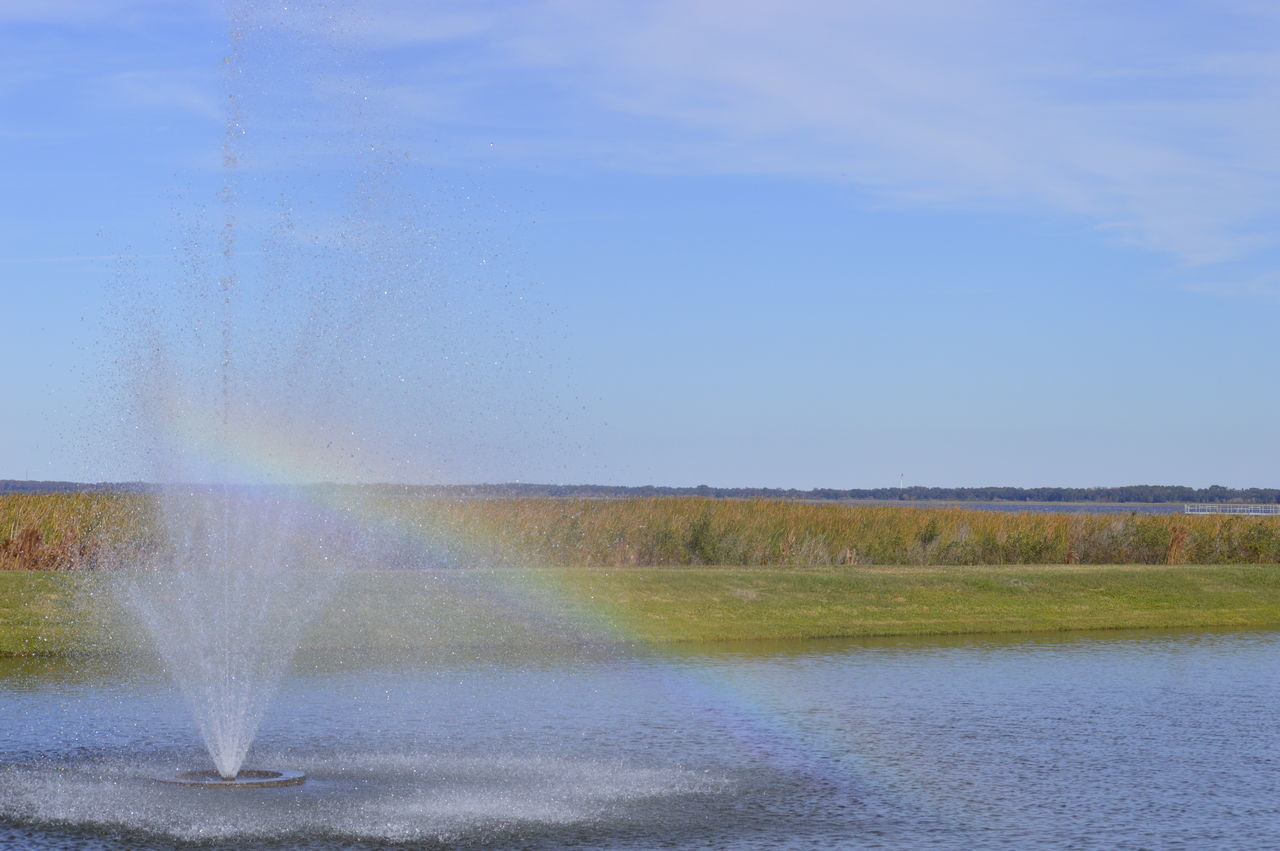 water, spraying, nature, beauty in nature, motion, outdoors, day, scenics, no people, grass, sky