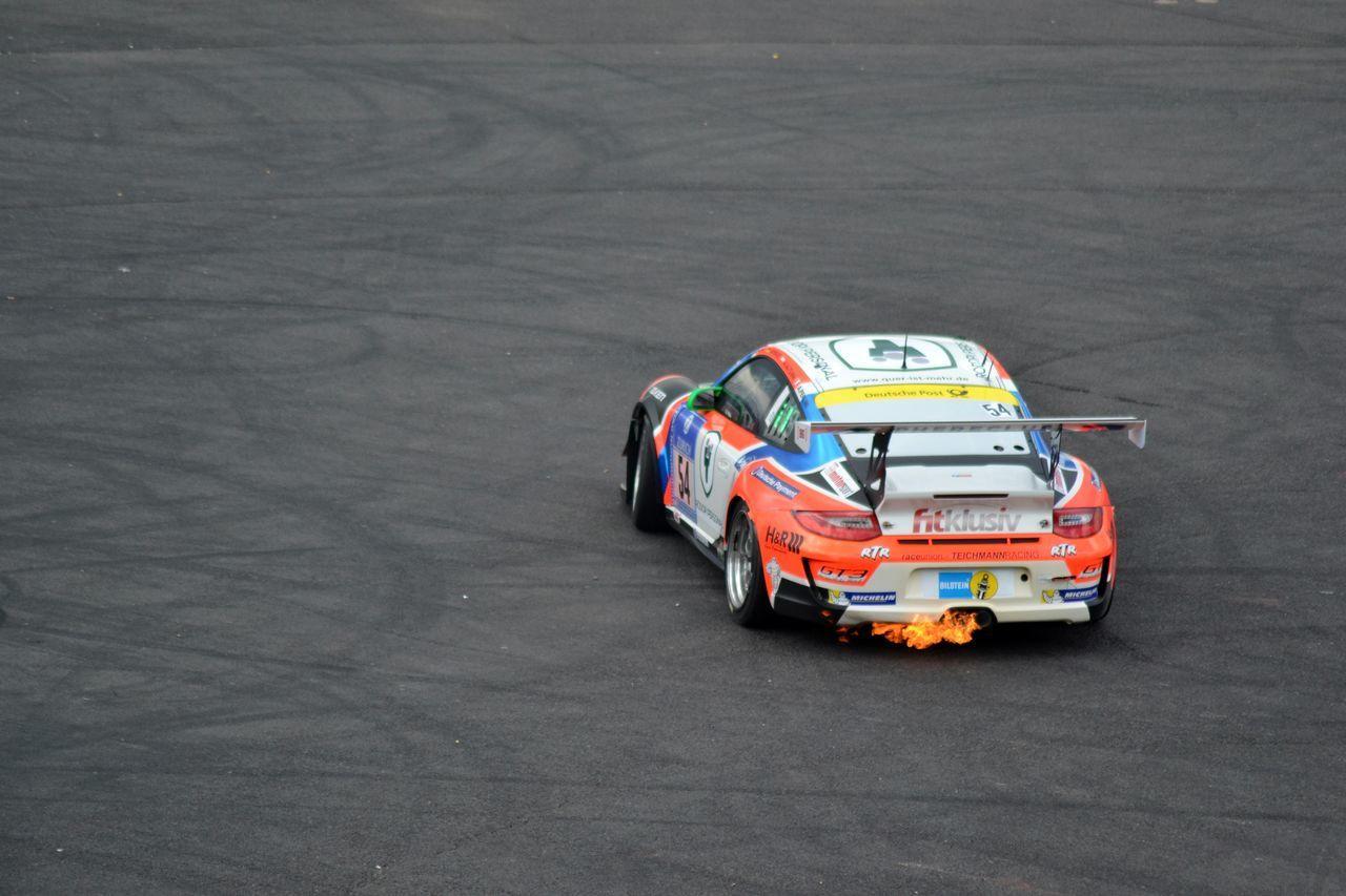Asphalt Car Fire Nurburgring Porsche Racing Racecar Racetrack Motorsport