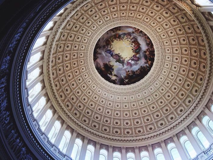 Architecture Built Structure Indoors  Dome Low Angle View Cupola History Ceiling No People Architectural Design Day