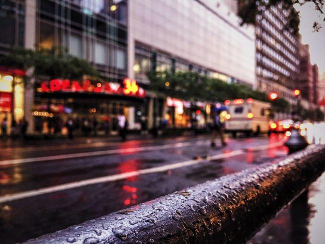 Street City Street Car City Life Wet Rainy