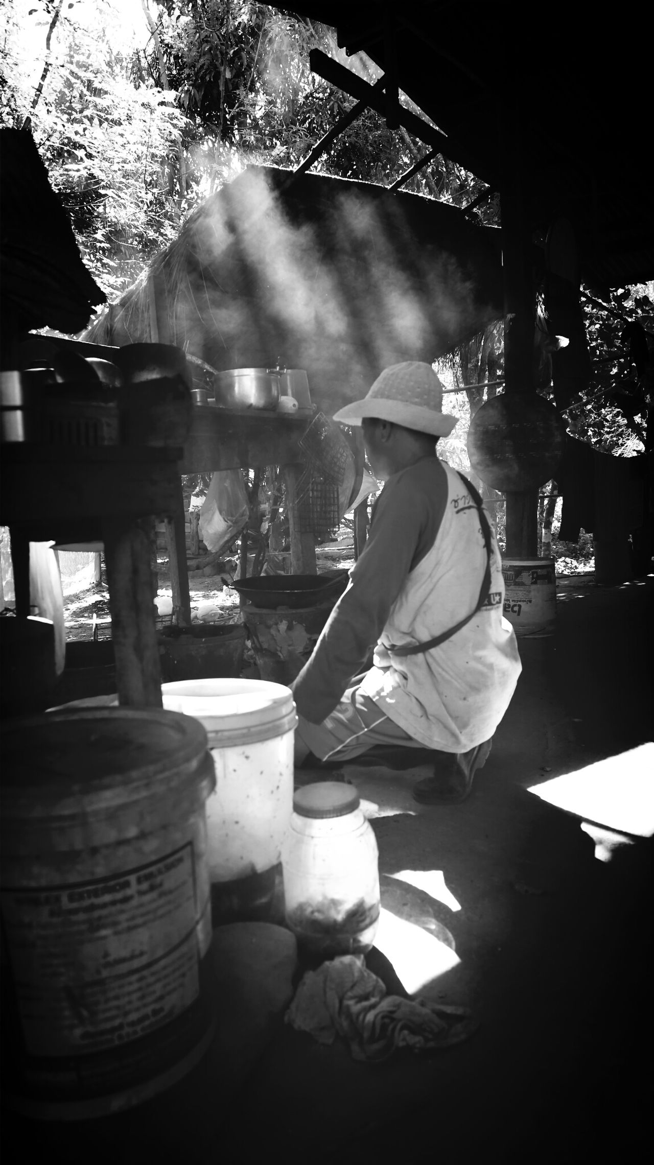 Cooking. Countryside Monochrome Streetphotography Black & White