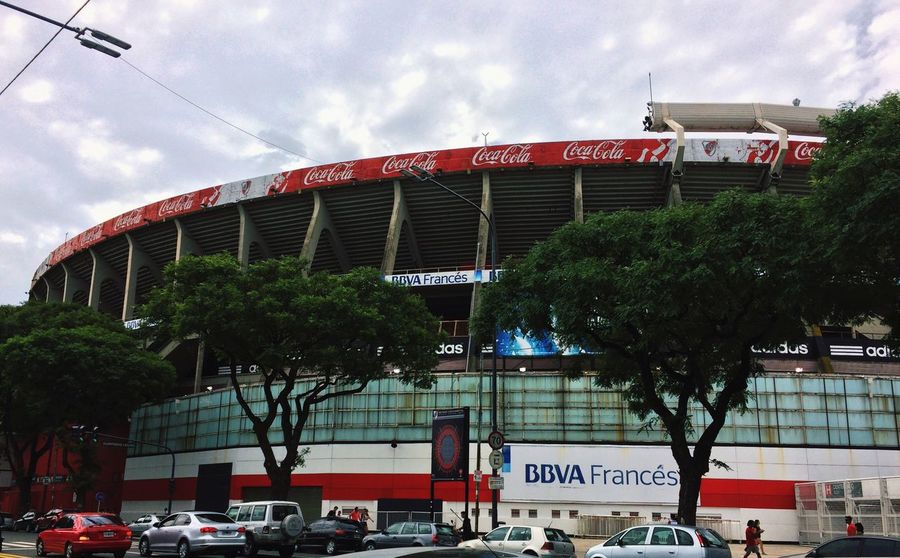 Temple Football Stadium House White And Red Passion Argentina River Plate