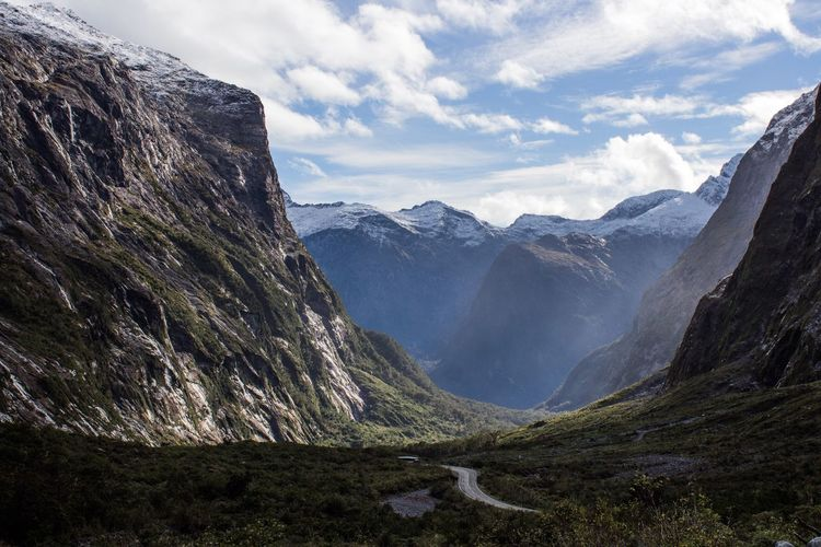 The road to Milford Sound Mountain Nature Landscape Scenics Beauty In Nature Valley New Zealand Milford Sound Fjord Outdoors