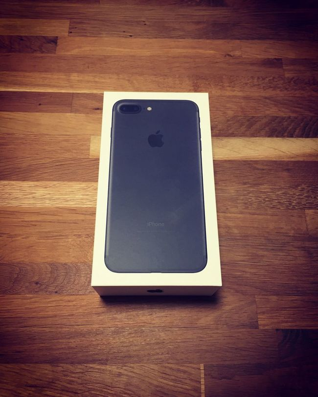 Upgrade to iPhone 7 Plus. Connection Technology Communication Wireless Technology Indoors  Table Wood - Material Single Object Still Life Hardwood Floor High Angle View Wooden Cable Digital Tablet Convenience Portability IPhone Design Smart Phone IPhone7Plus EyeEm