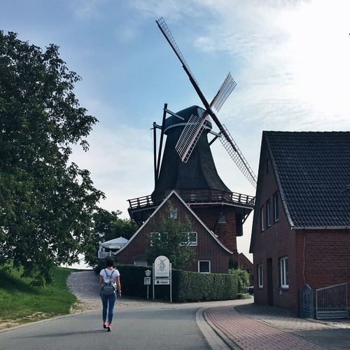 Architecture Alternative Energy Traditional Windmill Fuel And Power Generation Sky Windmill Germany Nordic Countries Nordic Wind Turbine Germany Architecture Hamburg