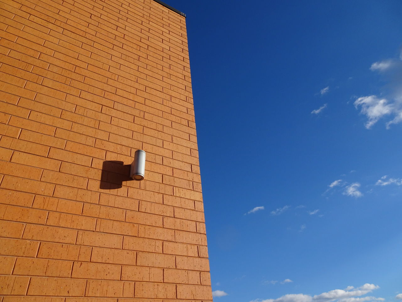 brick building and blue sky Apartment Buildings Architecture Architecture Blue Sky And Clouds Brick Building Brick Wall Building Exterior Built Structure City Life Copy Space Day Exterior Design Flickr No People Outdoors Relazing Rooftop Rooftops Simple Lines Simplicity Sky Spring Summer Urban Living Washington State