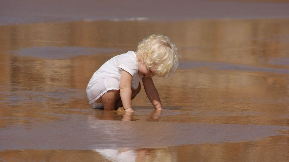 Beach Fun Beach Photography Child Childhood Happiness Playing In The Water Discover Nature Water One Person Full Length Real People Day Outdoors Nature People