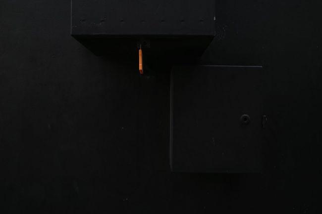 Black and orange. First Eyeem Photo Architecture Architectural Detail Black Walls