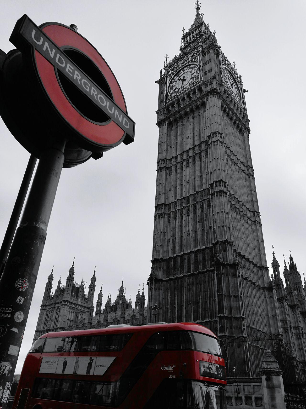 London Big Ben Red Underground Clock Tower