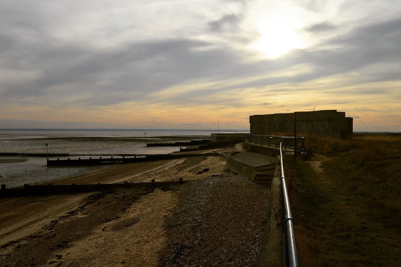 Sea Beach Sky Outdoors Horizon Over Water No People Cloud - Sky Nature Day Southend On Sea Landscape Water Sunset Tranquil Scene Gunners Park