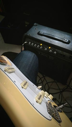 Guitarist view Fender Fender Stratocaster Yngwie Malmsteen Shred Guitar Player Yellow Line 6 Amplifi Rockstar Metal Rock Song Strings Guitar Love First Eyeem Photo