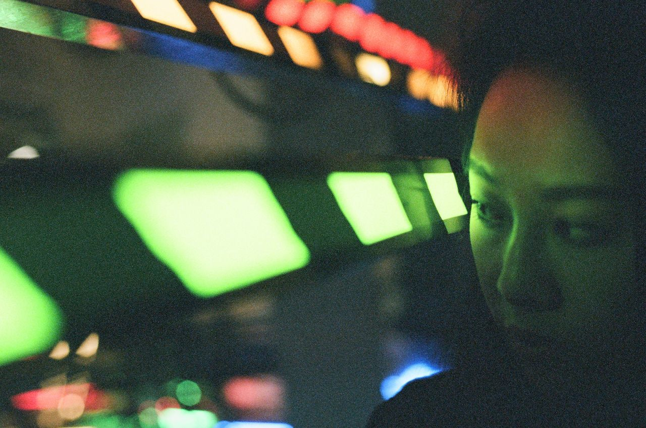 Long Goodbye Close-up Indoors  Technology Portrait Of A Woman EyeEm Best Shots Makeportraits Neon Light Close Up Portrait Photography Film Film Photography Fujicolor200 TCPM