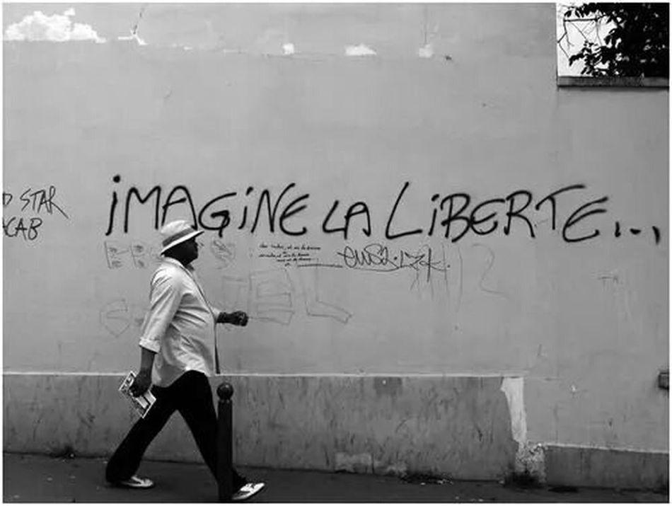Imagine la multicolore, mumtireve, imagine la accessible et contre utopique. Jesuischarlie Liberty Dream Imagineliberty Wecandoeverything