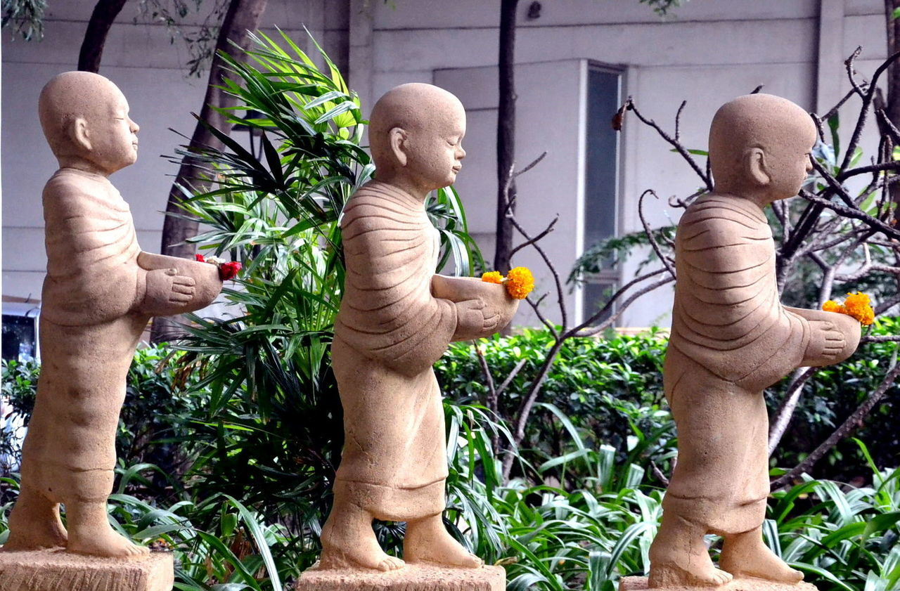 Bangkok Bangkok City Bangkok City Life Bangkok Thailand Buddhism Buddhist Day Green Color Growth Outdoors People Statues Togetherness