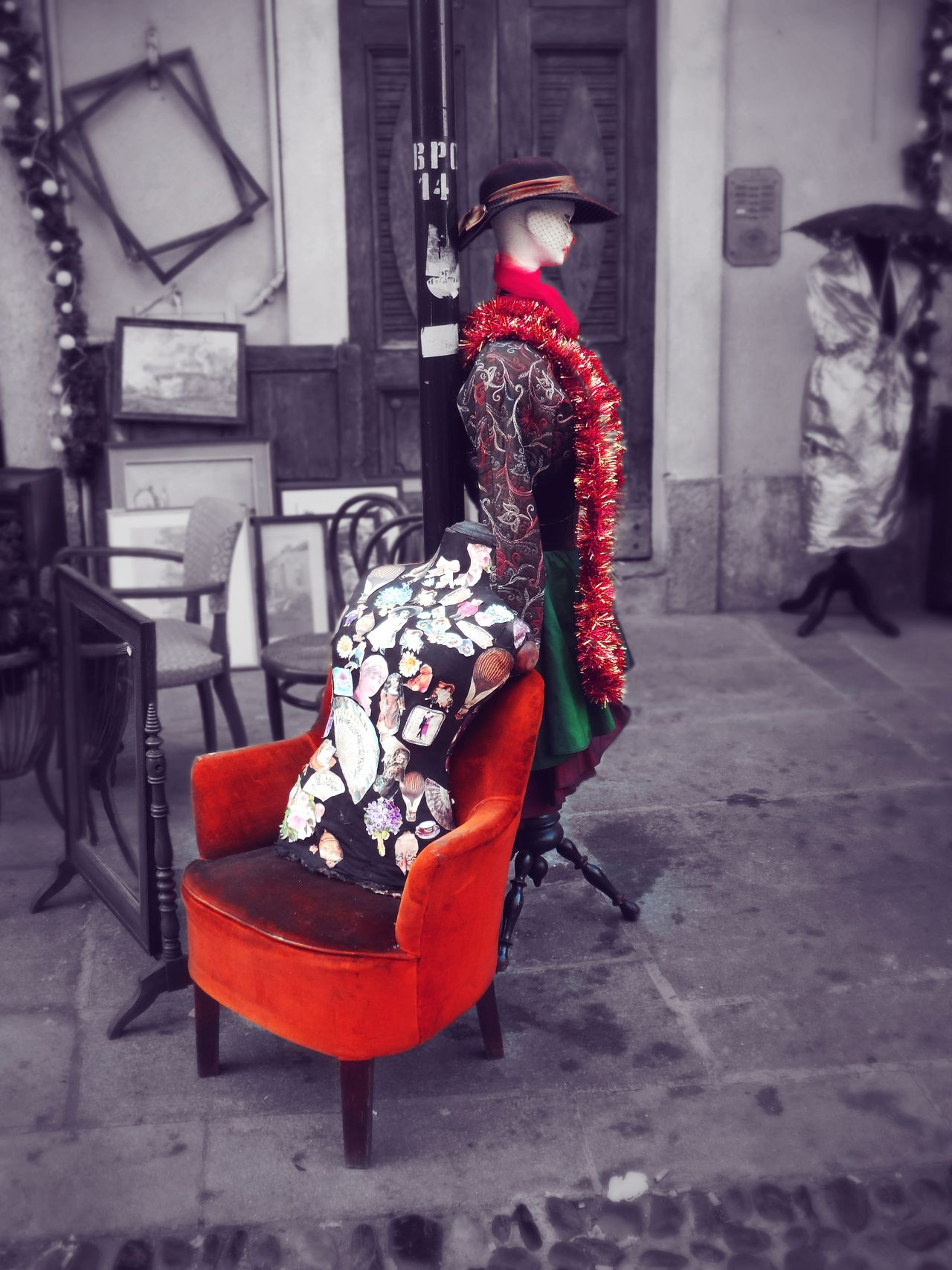 Art Contrast Day Mannequins Market Old Fashion Style One Person Outdoors Street Women EyeEmNewHere Memorabilia Torino, Italy Balun Urban Turistic Attractions Red Clothes Colour Walk People Fashion&love&beauty Fashion Photography Theatre Arts Culture