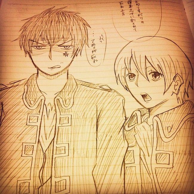 Anime Comic Gintama Okita Hijikata 漫画 銀魂 沖田総悟 土方 絵