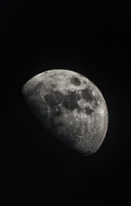 Moon Black Background Moon Surface Astronomy Sky Night Nature Close-up No People Beauty In Nature Planetary Moon Space Half Moon Outdoors
