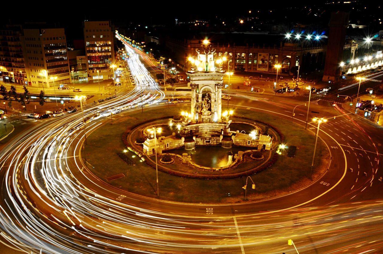 Night Speed City Traffic Transportation Illuminated Motion Street Light Long Exposure City Life Cityscape Traffic Circle Barcelonacity Barcelonalove Barcelona♡♥♡♥♡ Barcelona España Barcelona, Spain Viajando Travel Barcelona Tourism Destination Viajar Viaje City