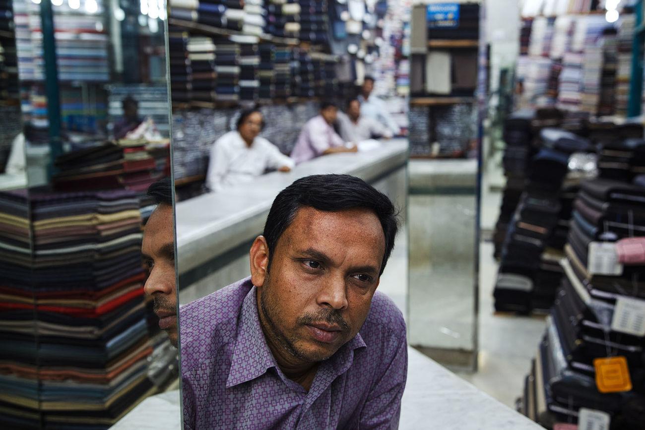 A textile shop in Dhaka, Bangladesh. ASIA Bangladesh Dhaka Textile Shop Portrait Travel The Portraitist - 2017 EyeEm Awards