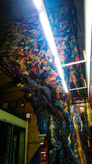 Mosaic Tiles Subway Station ArtWork Sao Paulo - Brazil Mosaic at a subway station in Sao Paulo
