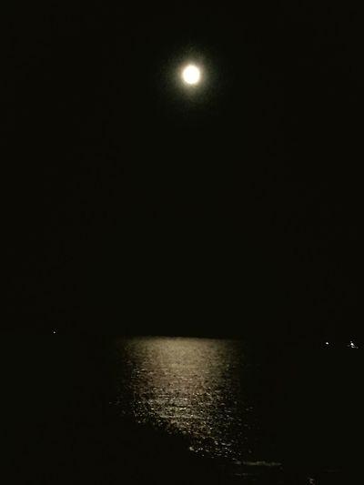 Black Sea and the moon Moonlight Moon Moon_lovers Sea Sea And Sky Sea Evening Sky Nature Night Sea Night Romantic Romantic Sky
