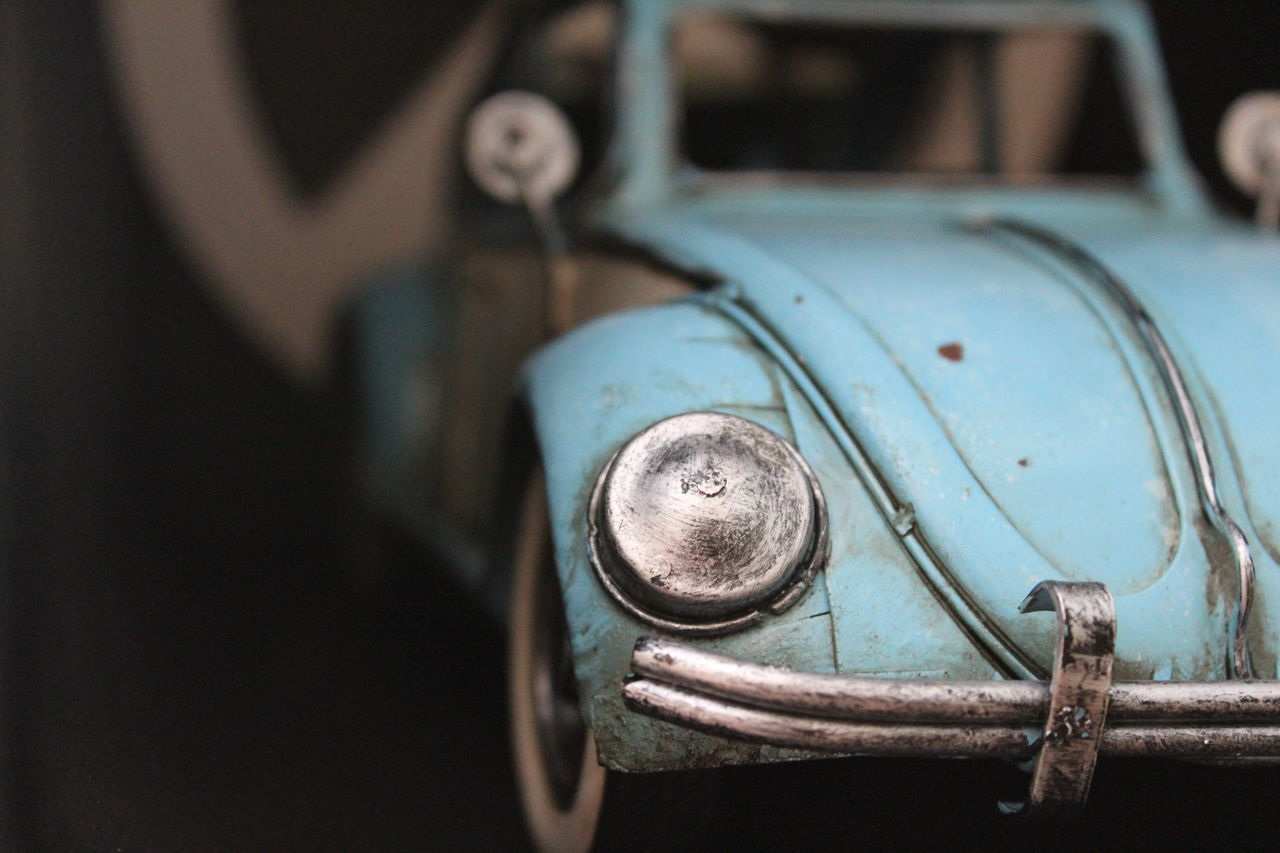 Black Background Close-up Hippielife Metal Old Peace And Love Selective Focus Sixties Volkswagen Beetle Showcase July