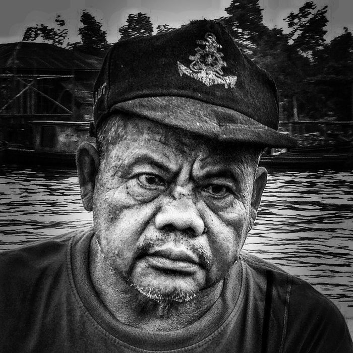 the old man and the river Bw_collection EyeEm Indonesia Blackandwhite Hdriphoneography