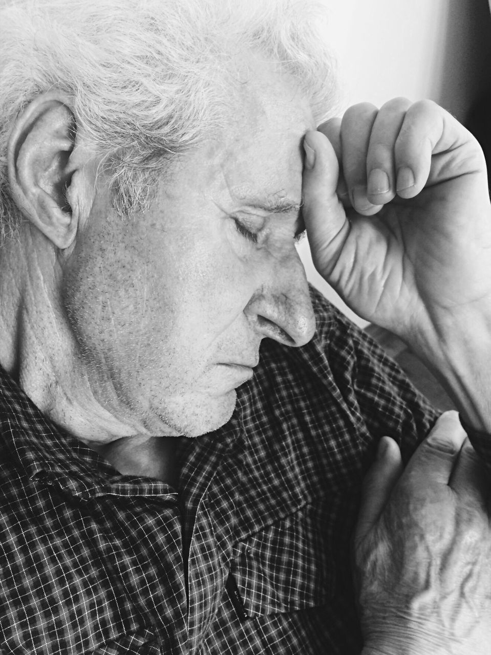 Close-Up Of Depressed Senior Man
