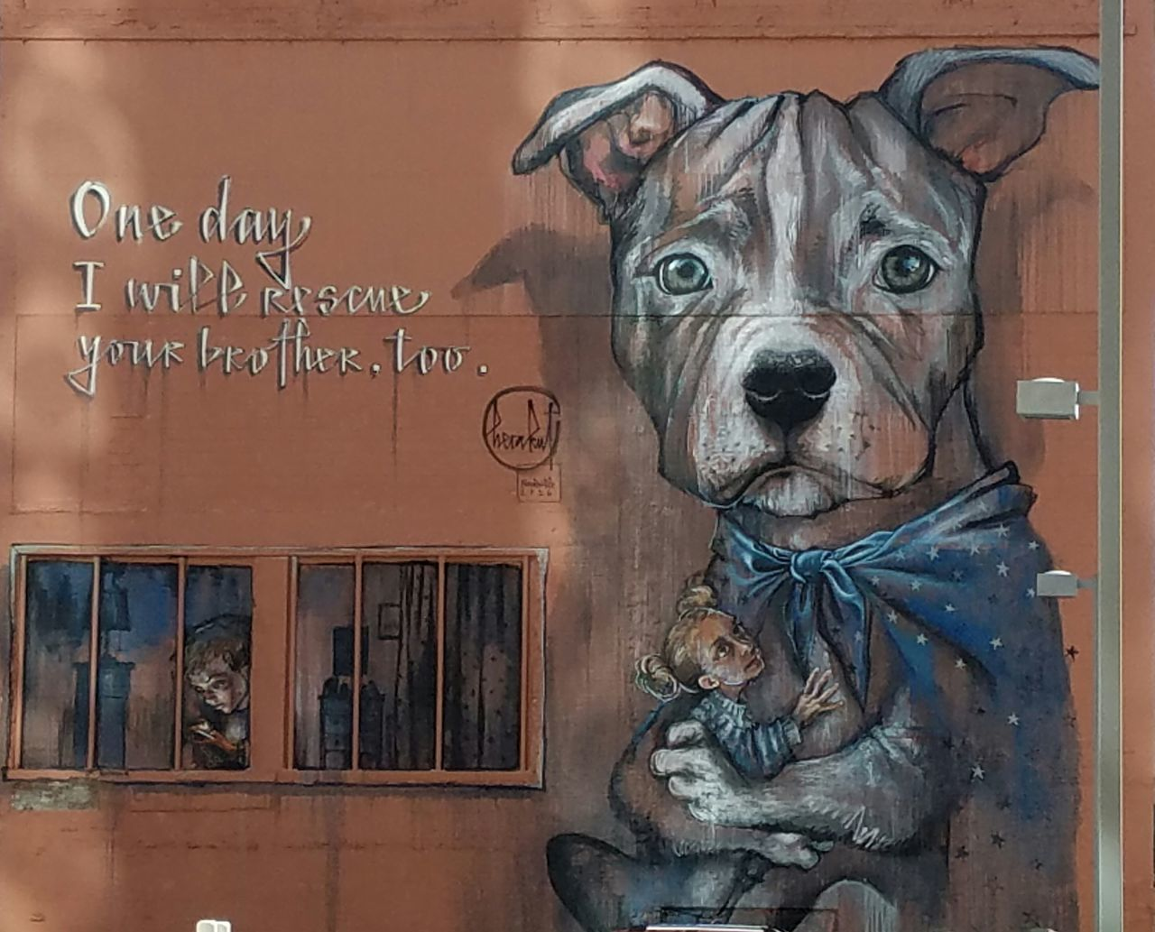 Dog Looking At Camera One Animal Portrait Pets No People Animal Themes Artistic Phonetography EyeEmNewHere Outdoors City Wall Murals