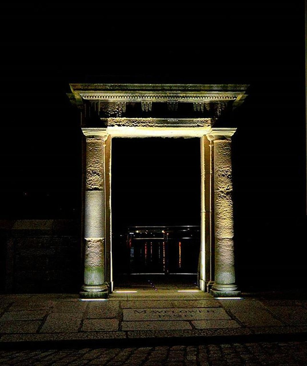 architecture, no people, indoors, history, night, built structure, architectural column