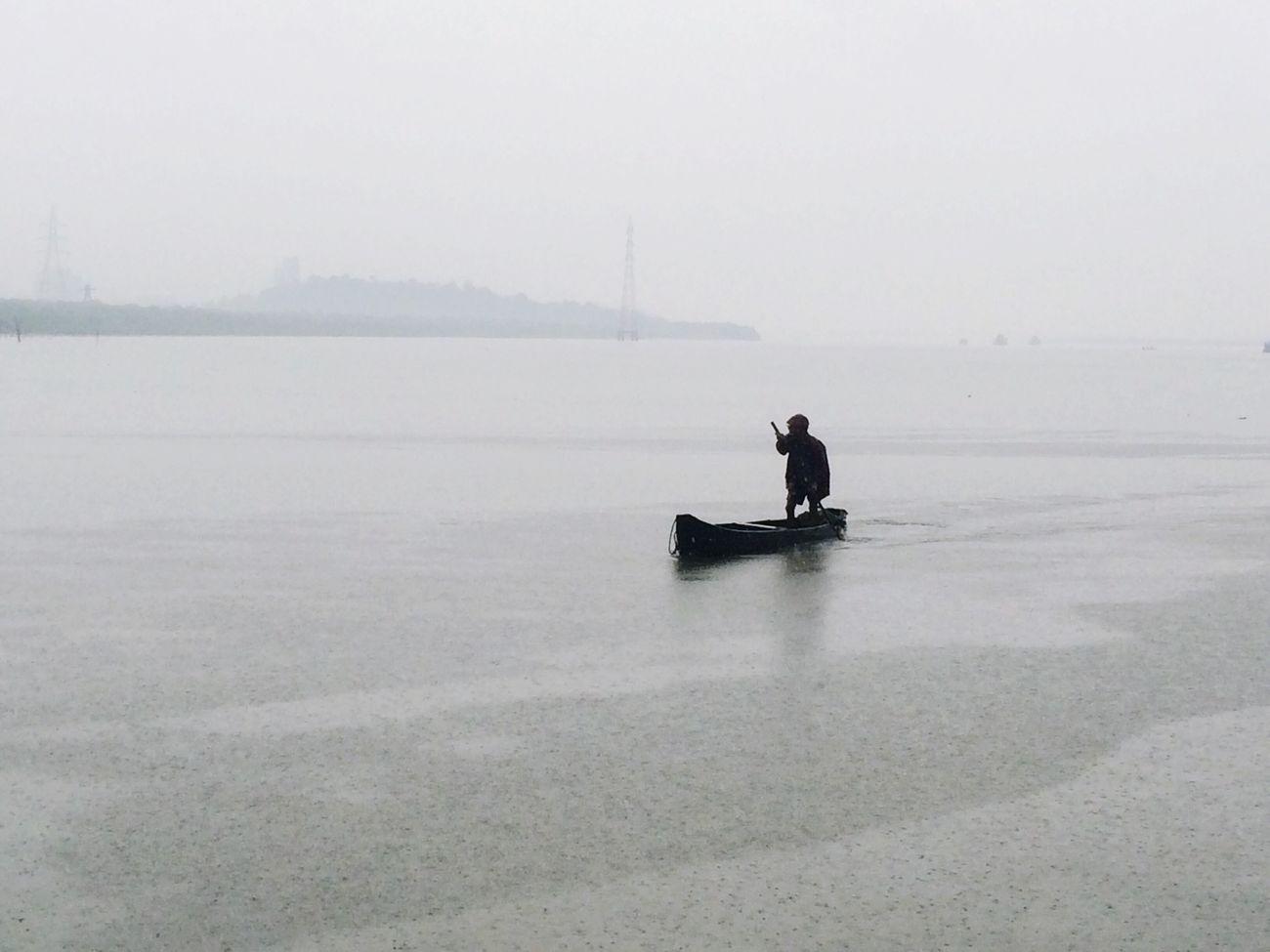 Rainy Days Rain Fishing Fisherman Boat Mobilephotography Mumbai Gorai Maharashtra
