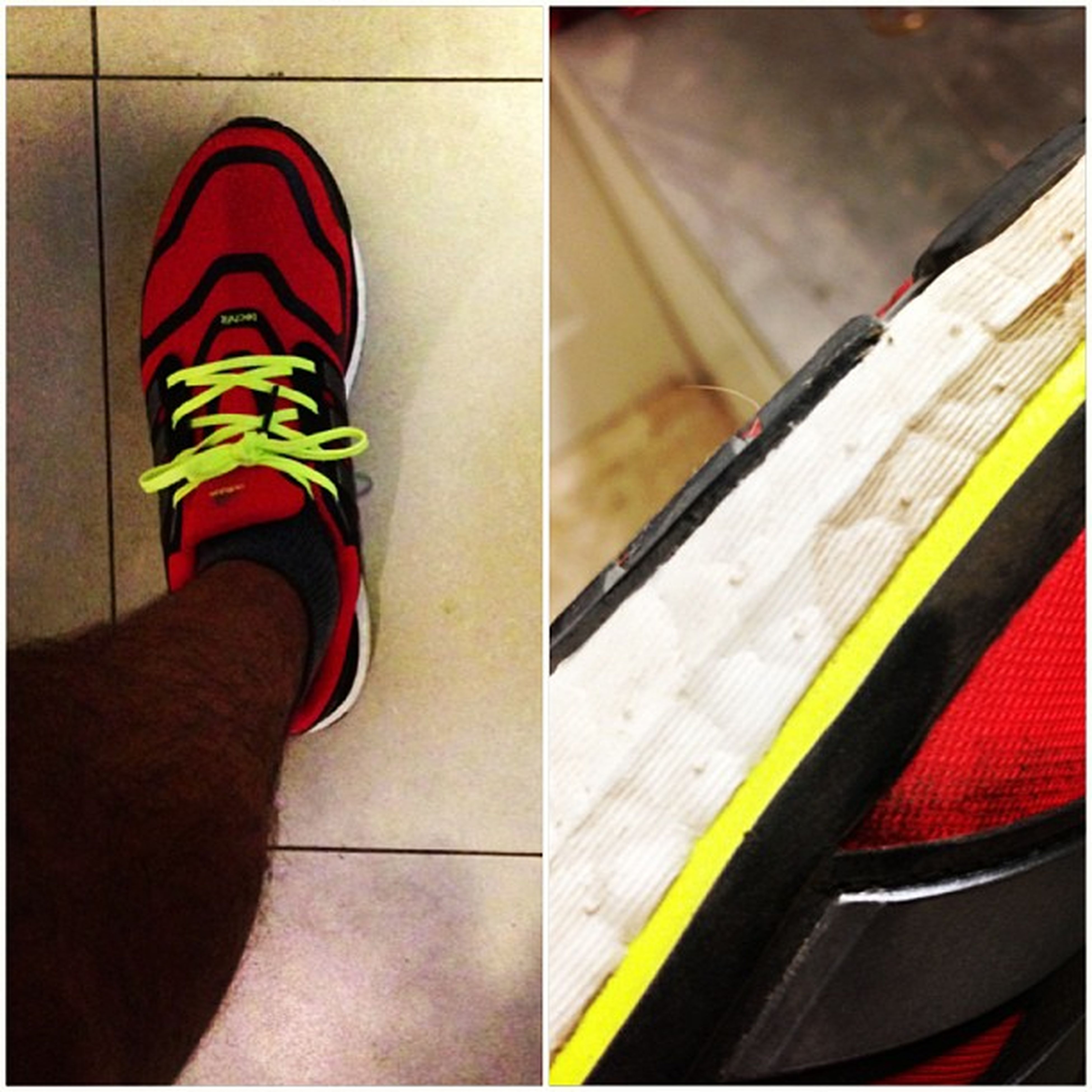 low section, person, indoors, part of, shoe, red, multi colored, unrecognizable person, high angle view, personal perspective, lifestyles, men, close-up, human foot, cropped, footwear