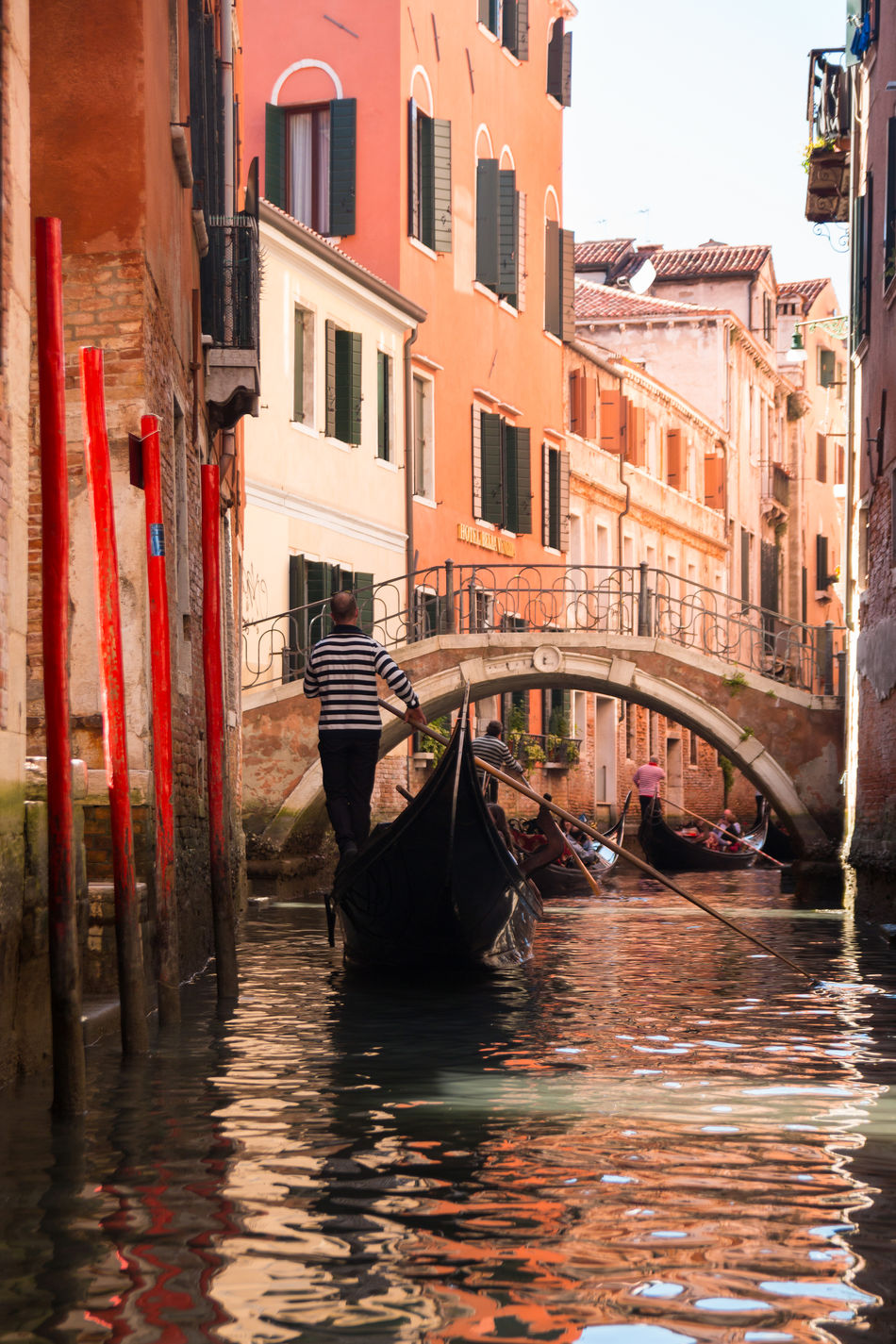 Architecture Building Exterior Built Structure Canal Day Gondola Gondola - Traditional Boat Gondolier Italy Moored Nautical Vessel No People Outdoors Transportation Venice, Italy Water Waterfront