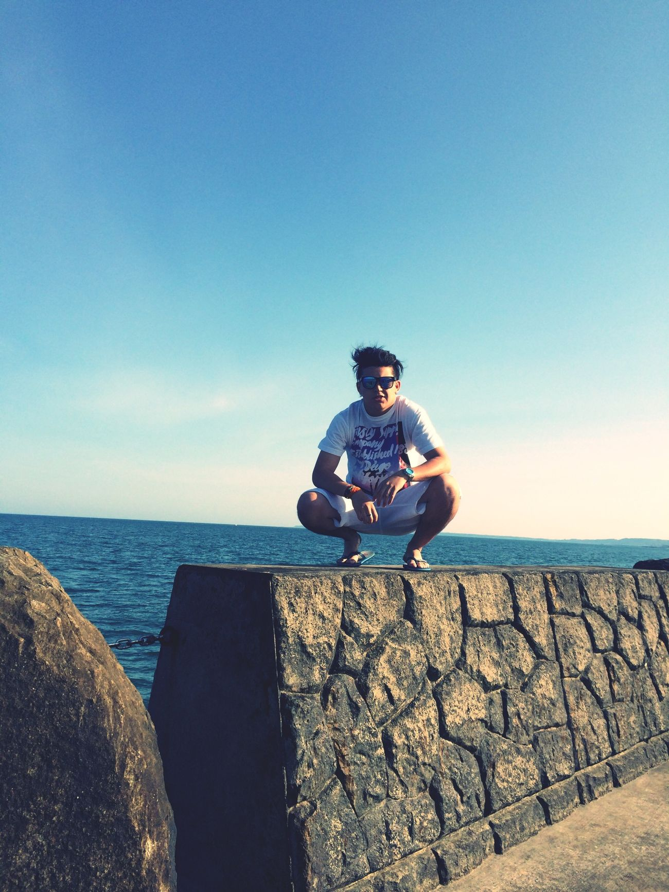 Check This Out Sea Blue Sky Enjoying Life Disfrutando de la brisa y del mar !!