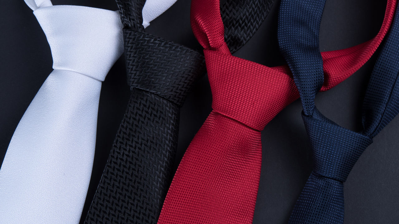 Close-Up Of Colorful Neckties