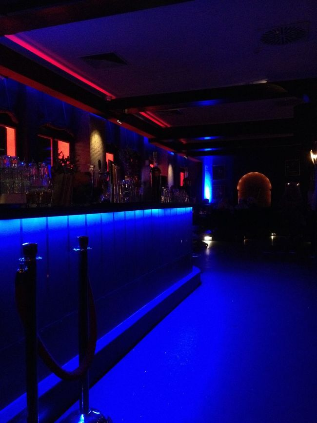 Architecture Bar Barscene Blue Built Structure Dark Electric Light Illuminated