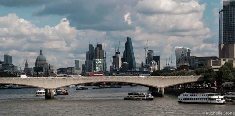 London skyline Urban Skyline City Architecture Skyscraper Downtown District Bridge - Man Made Structure Cityscape Water River City Life