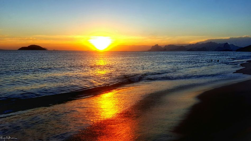 Sunset Sea Beach Sun Beauty In Nature Water Horizon Over Water Nature Scenics Sky Sand Tranquil Scene Sunlight Outdoors Tranquility Travel Destinations Dramatic Sky No People