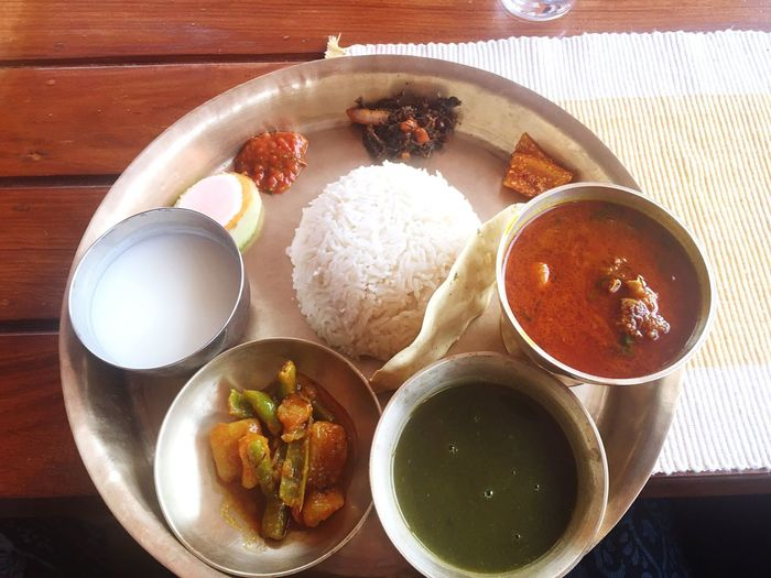 Food And Drink Thali Set Nepal Food Yummy Healthy Eating No People Restaurant Meal Nepal Specialty Tasty