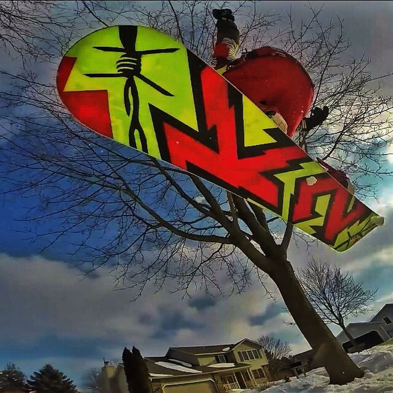 A cool shot📷 looking up at me doing a 180 off of the rail me and @ross_what_up329 made yesterday👌🏂❄️. ---------------------------------------Snowboarding Snowboard Snowboards 😀 Snowboarder Snowboarding K2 Ride Burton  Burtonsnowboards Gopro Goprohero Goprohero3 Goprooftheday Goprouniverse Goprohero3plus Winter 🌅